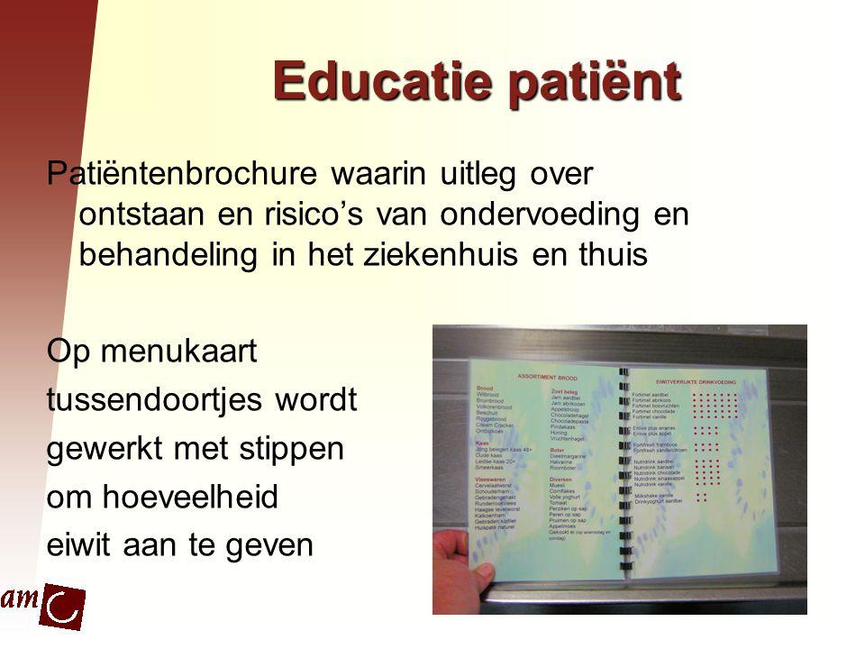 Educatie patiënt Patiëntenbrochure waarin uitleg over ontstaan en risico's van ondervoeding en behandeling in het ziekenhuis en thuis.
