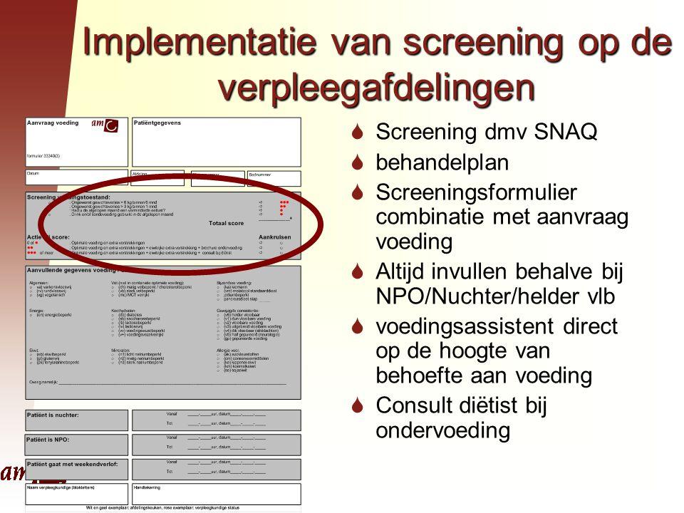 Implementatie van screening op de verpleegafdelingen