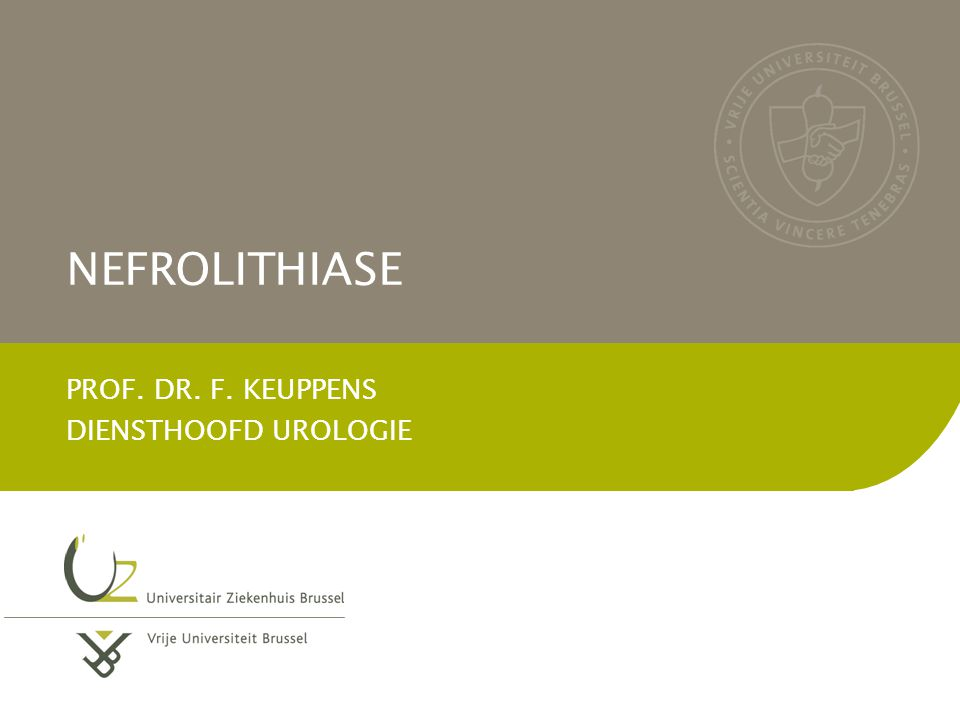 PROF. DR. F. KEUPPENS DIENSTHOOFD UROLOGIE