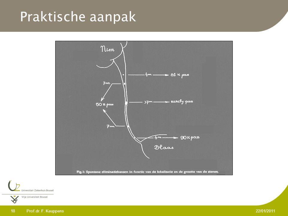 Praktische aanpak Prof.dr. F. Keuppens 22/01/2011