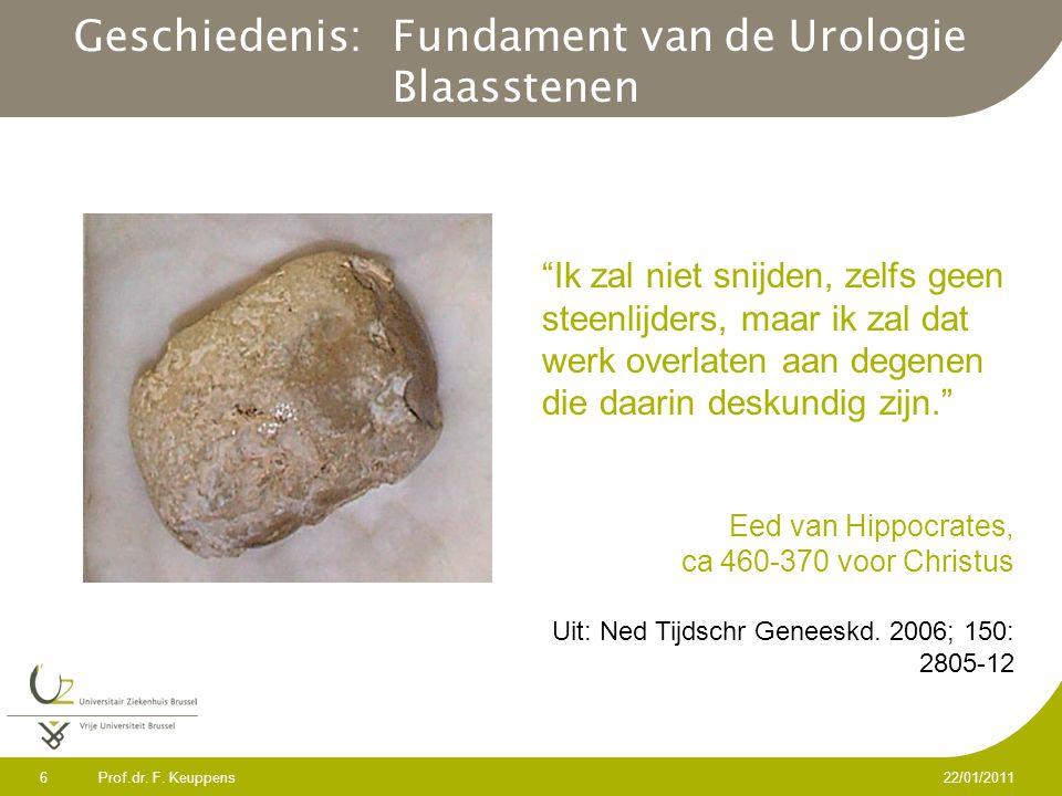 Geschiedenis: Fundament van de Urologie Blaasstenen