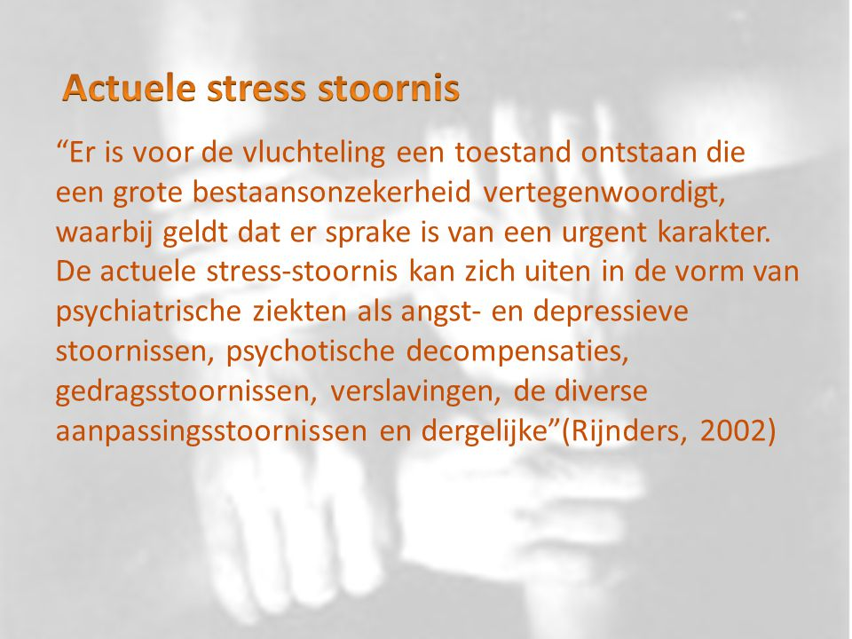 Actuele stress stoornis