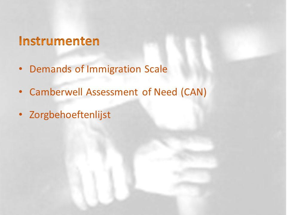 Instrumenten Demands of Immigration Scale