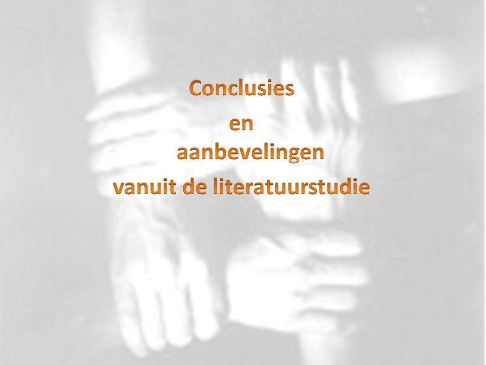 Conclusies en aanbevelingen vanuit de literatuurstudie