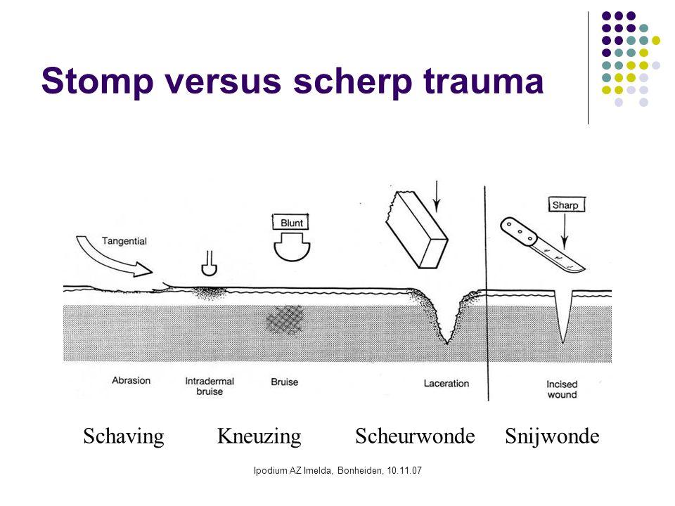 Stomp versus scherp trauma