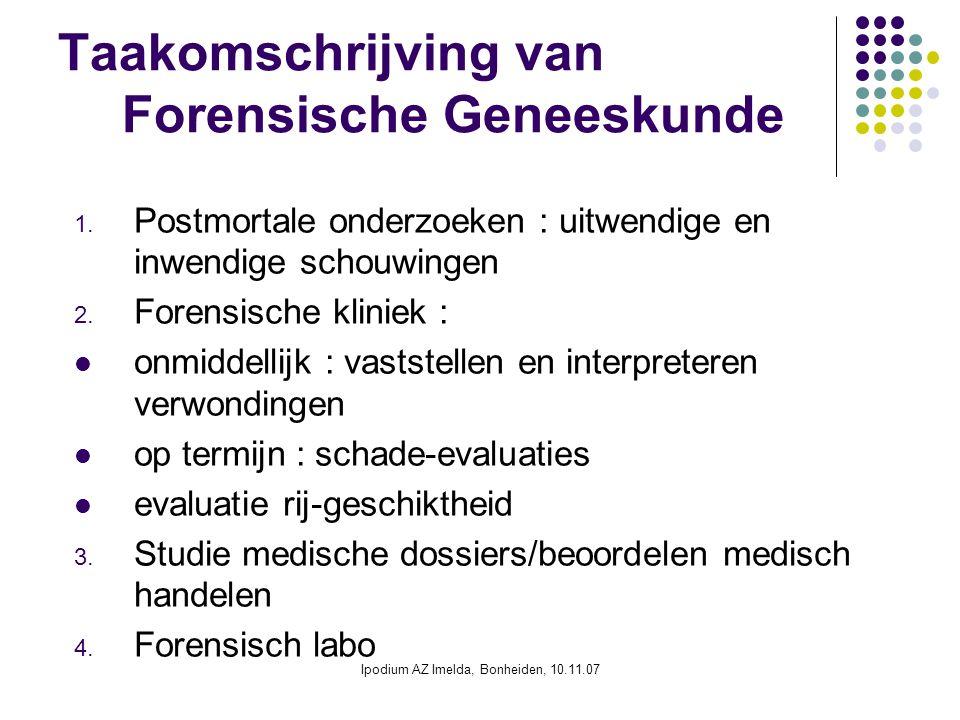 Taakomschrijving van Forensische Geneeskunde