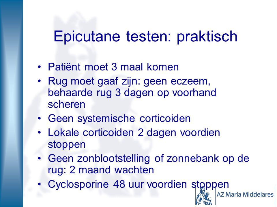 Epicutane testen: praktisch