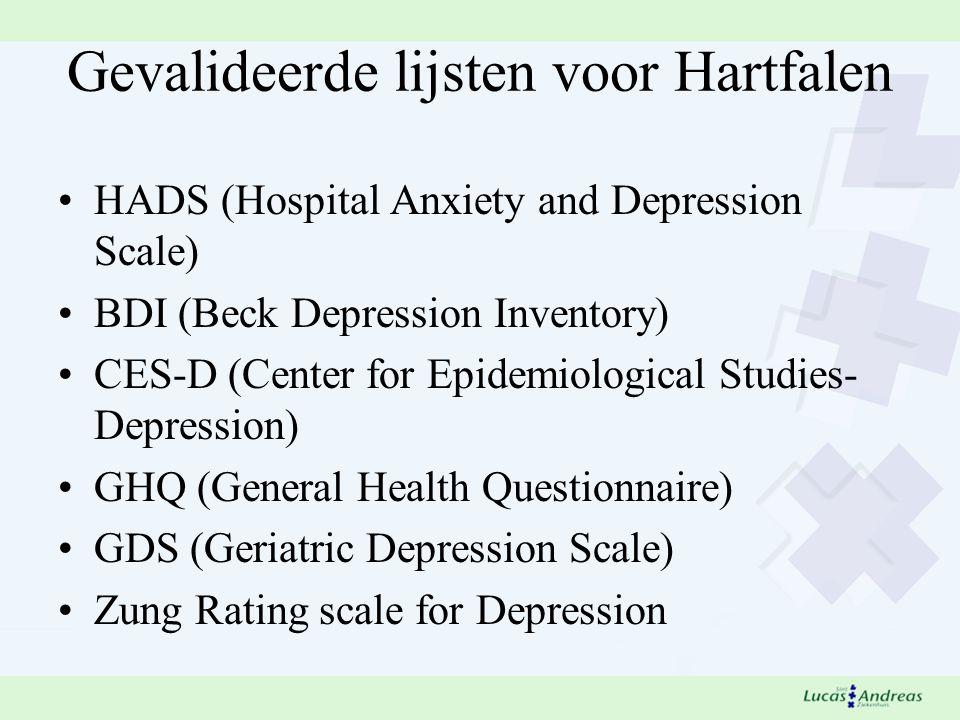 Gevalideerde lijsten voor Hartfalen