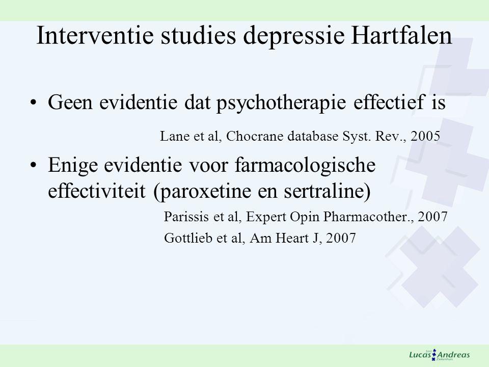 Interventie studies depressie Hartfalen