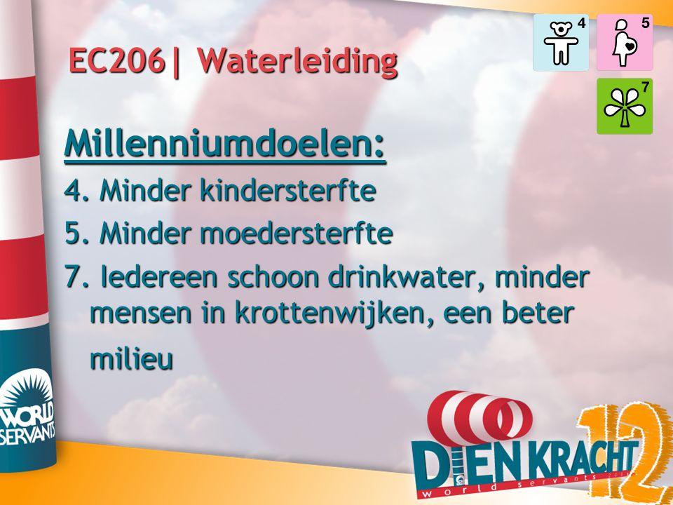 Millenniumdoelen: EC206| Waterleiding 4. Minder kindersterfte