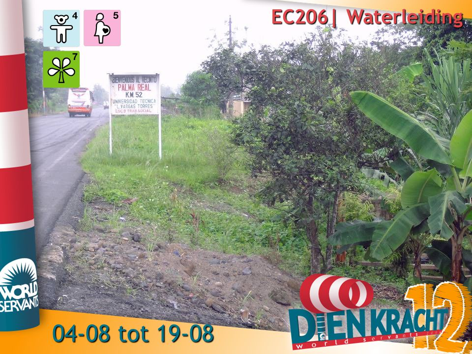 EC206| Waterleiding 04-08 tot 19-08