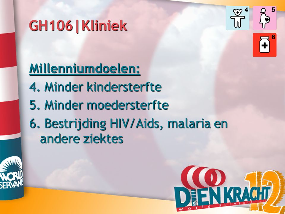 GH106|Kliniek Millenniumdoelen: 4. Minder kindersterfte