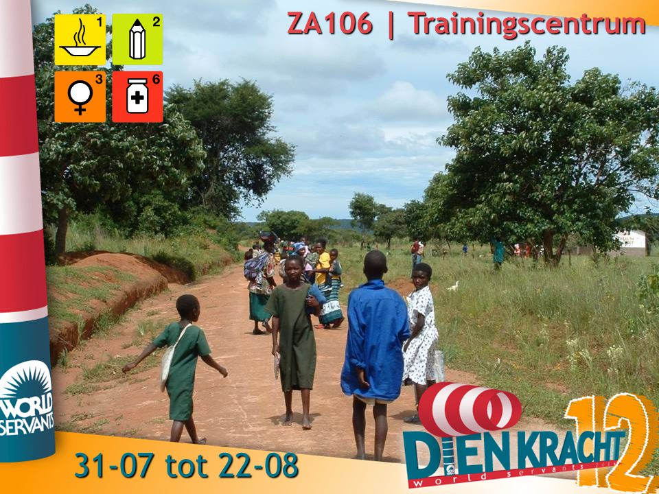 ZA106 | Trainingscentrum 31-07 tot 22-08