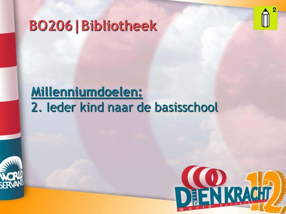 BO206|Bibliotheek Millenniumdoelen: 2. Ieder kind naar de basisschool