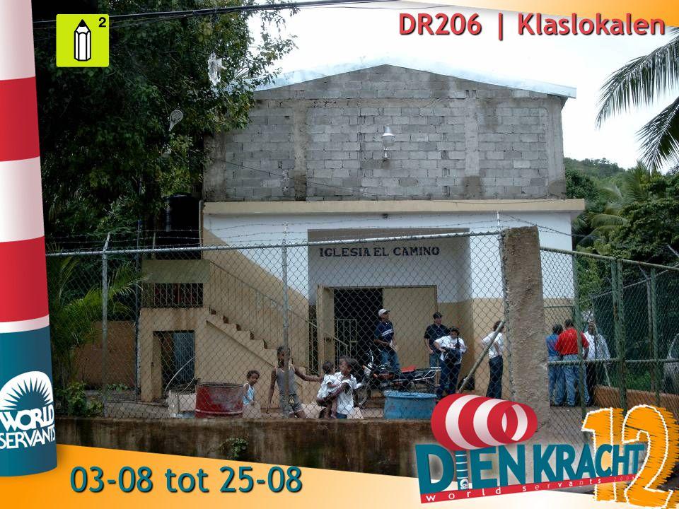 DR206 | Klaslokalen 03-08 tot 25-08
