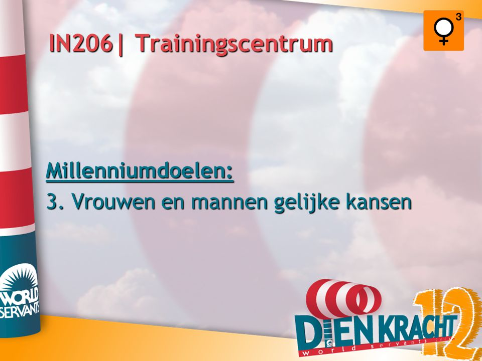 IN206| Trainingscentrum Millenniumdoelen: