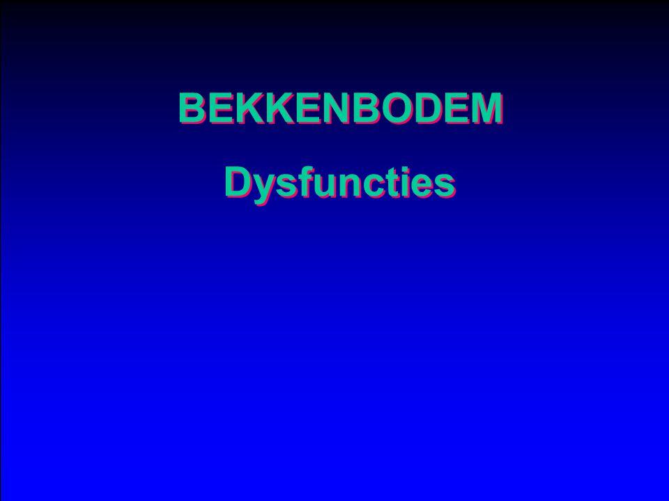 BEKKENBODEM Dysfuncties