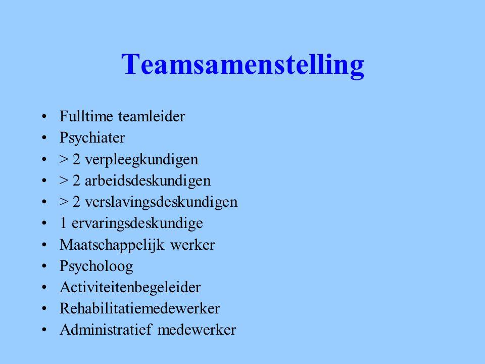 Teamsamenstelling Fulltime teamleider Psychiater