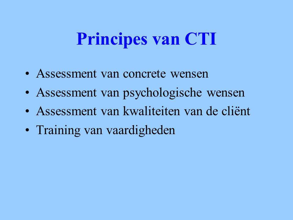 Principes van CTI Assessment van concrete wensen