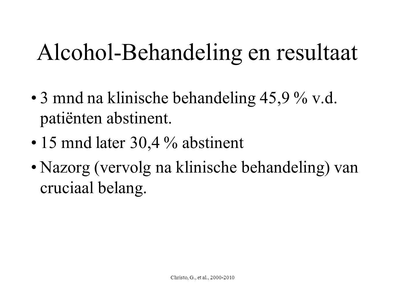 Alcohol-Behandeling en resultaat