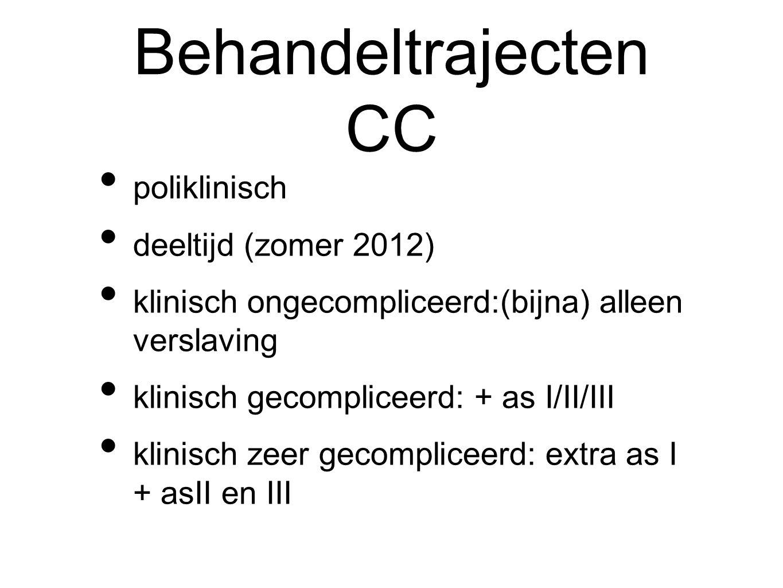 Behandeltrajecten CC poliklinisch deeltijd (zomer 2012)