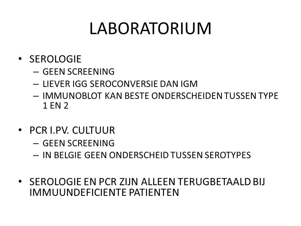 LABORATORIUM SEROLOGIE PCR I.PV. CULTUUR