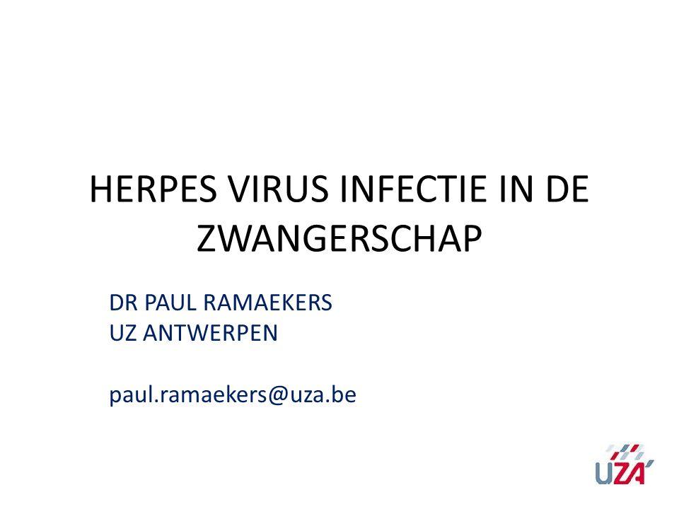 HERPES VIRUS INFECTIE IN DE ZWANGERSCHAP