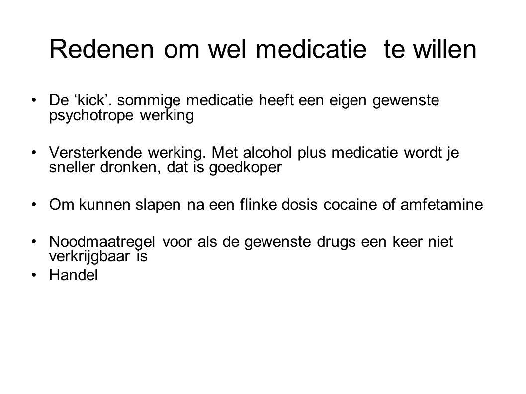 Redenen om wel medicatie te willen