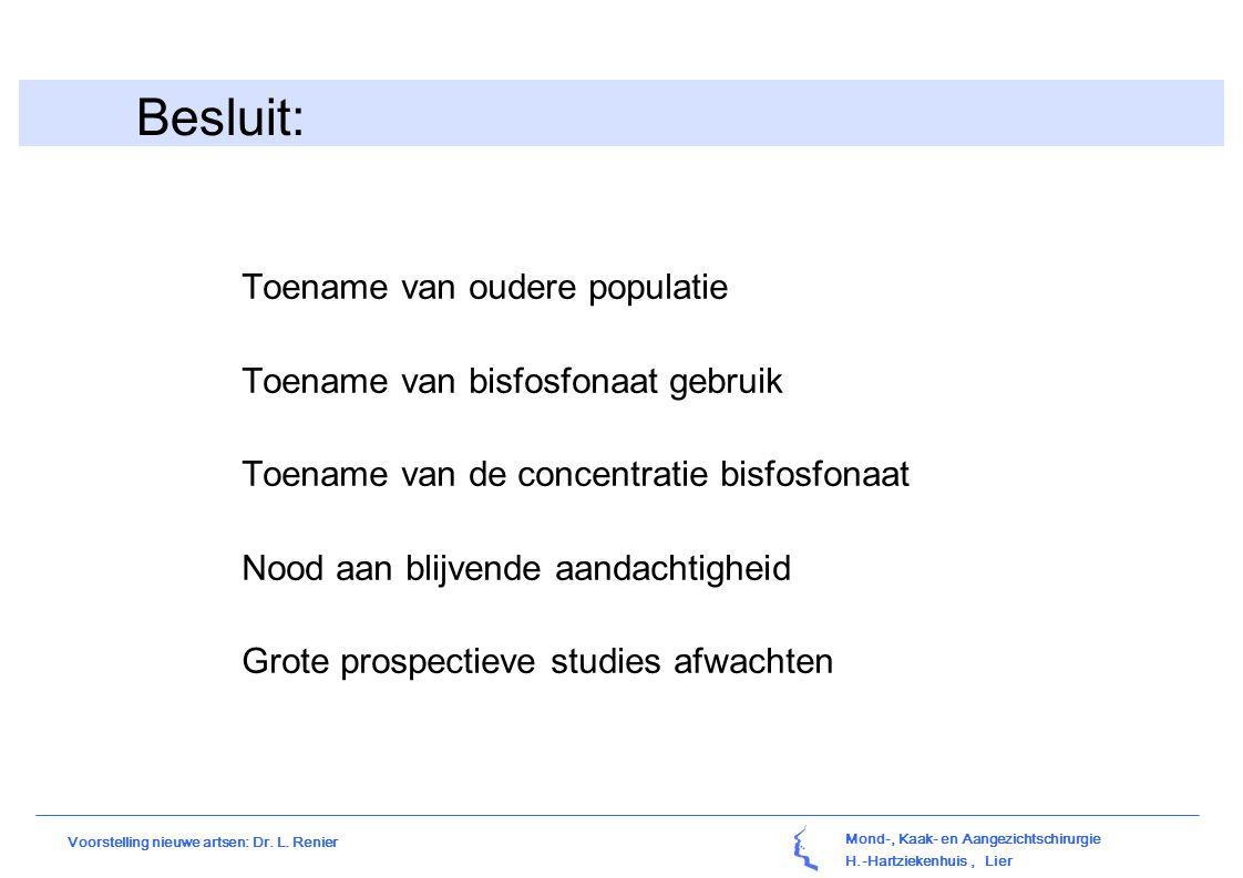 Besluit: Toename van oudere populatie Toename van bisfosfonaat gebruik