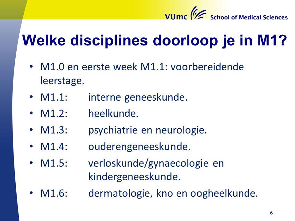 Welke disciplines doorloop je in M1