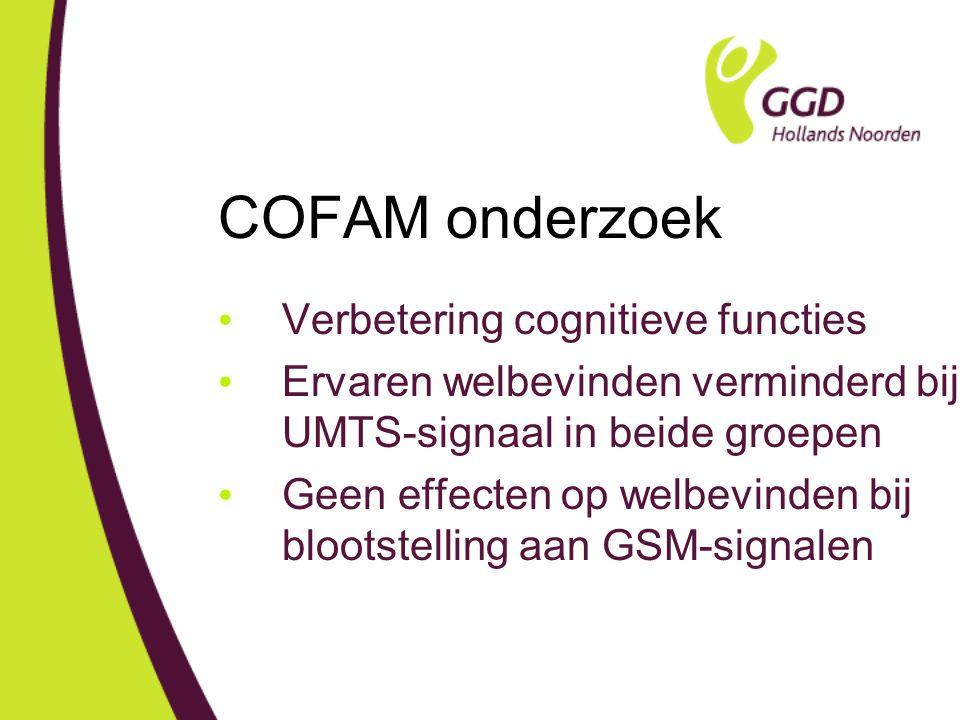 COFAM onderzoek Verbetering cognitieve functies