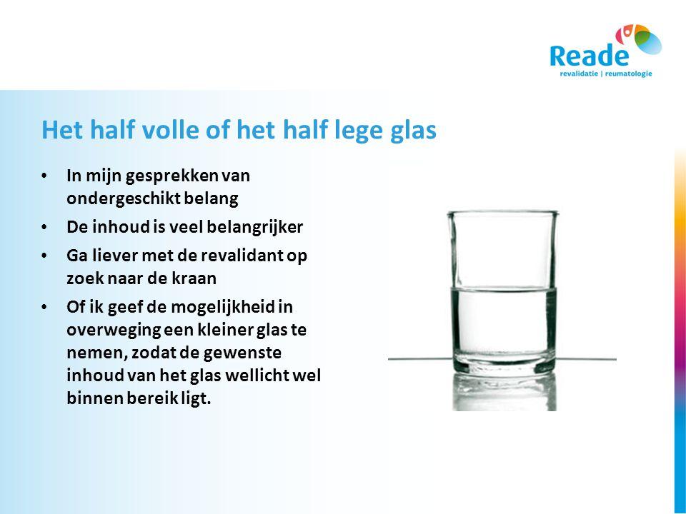 Het half volle of het half lege glas