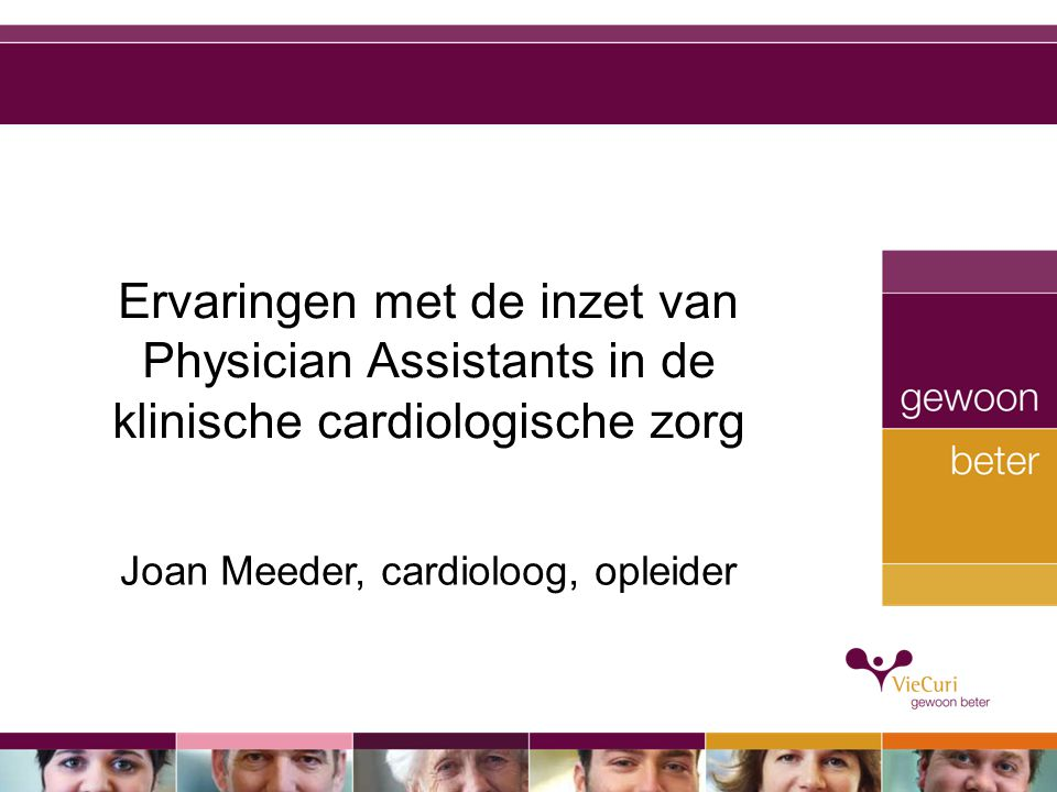 Joan Meeder, cardioloog, opleider