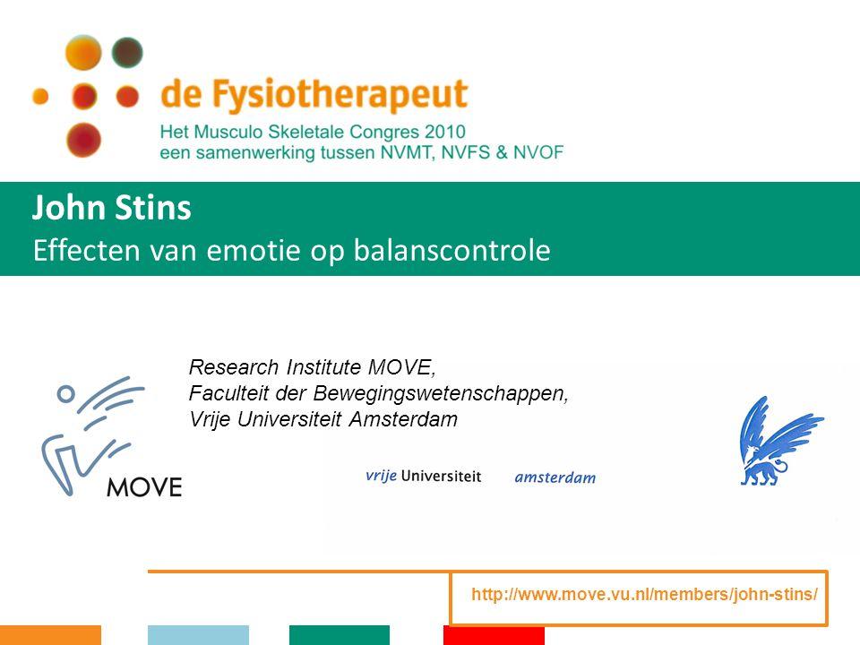 John Stins Effecten van emotie op balanscontrole