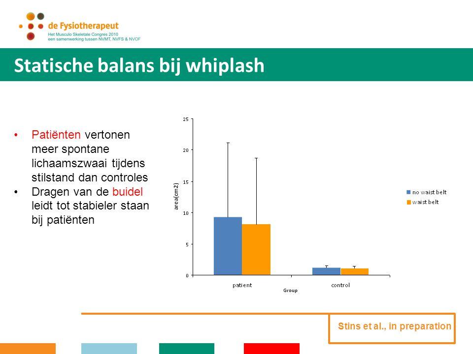 Statische balans bij whiplash