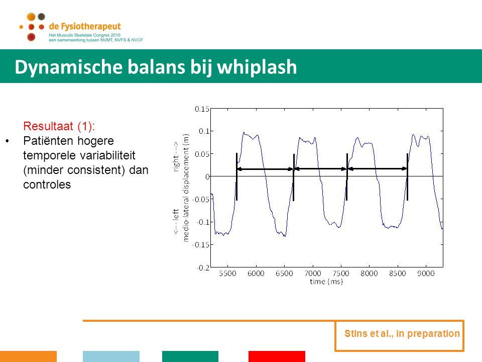 Dynamische balans bij whiplash