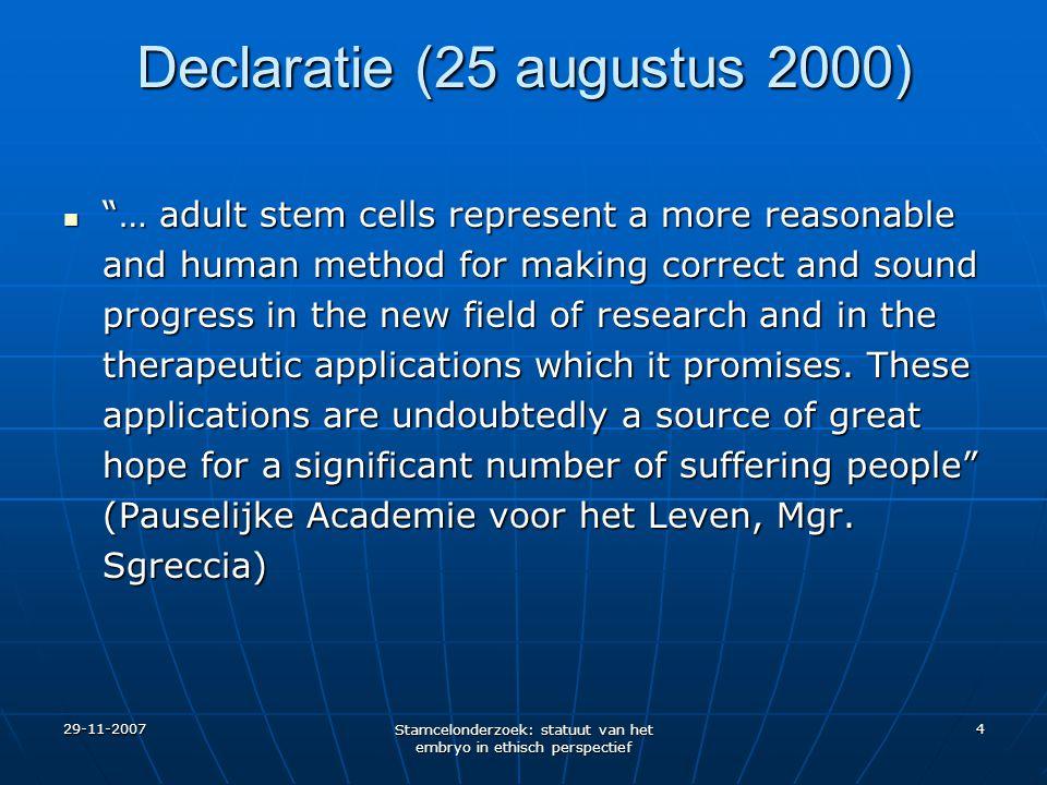 Declaratie (25 augustus 2000)