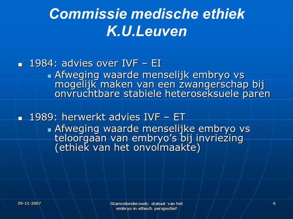 Commissie medische ethiek K.U.Leuven