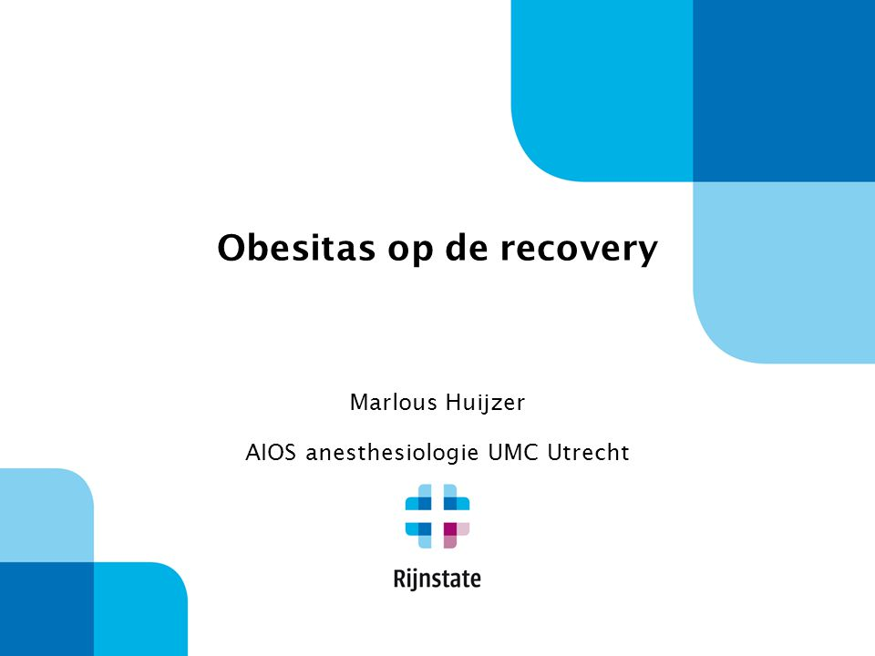 Obesitas op de recovery