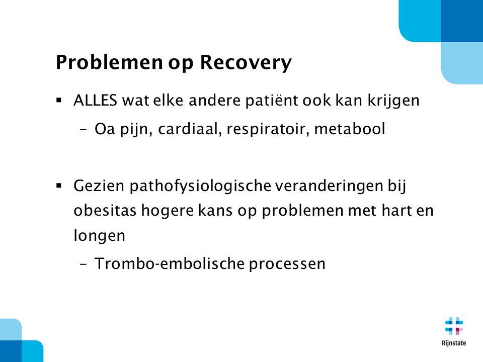 Problemen op Recovery ALLES wat elke andere patiënt ook kan krijgen