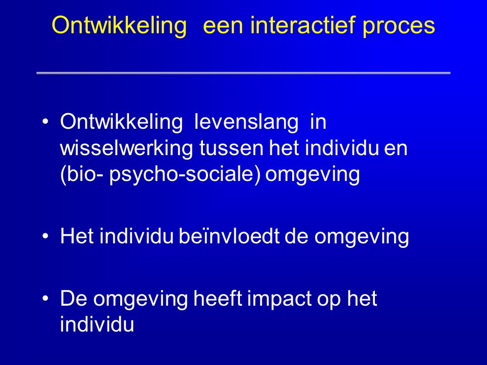 Ontwikkeling een interactief proces