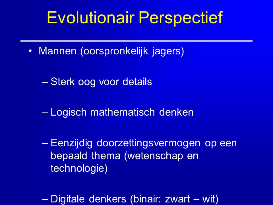 Evolutionair Perspectief