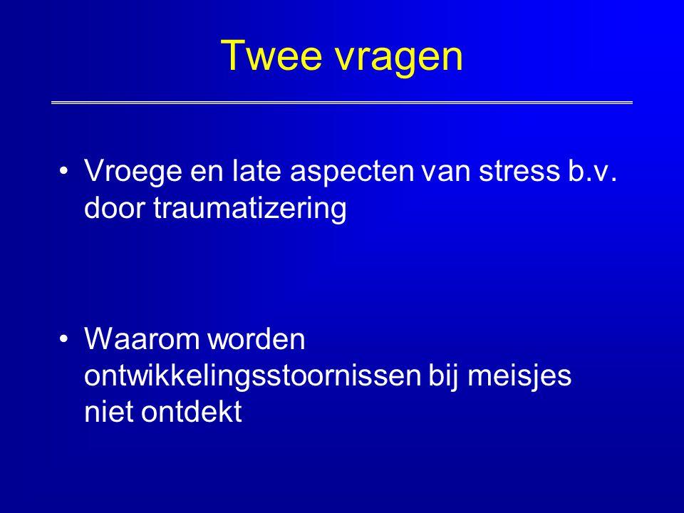 Twee vragen Vroege en late aspecten van stress b.v.