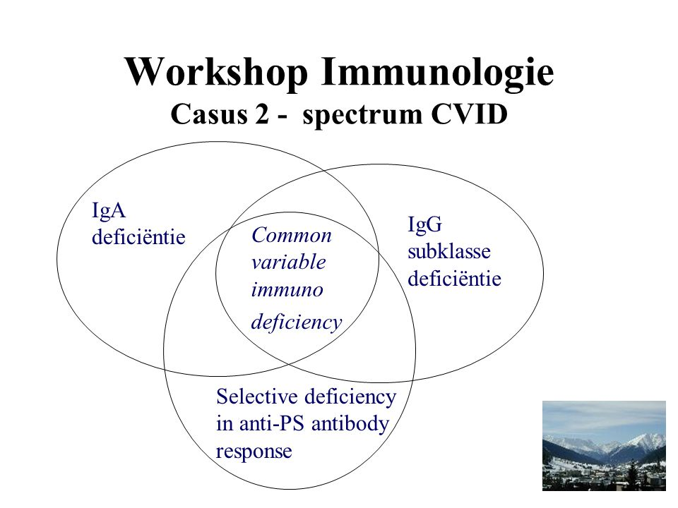 Workshop Immunologie Casus 2 - spectrum CVID