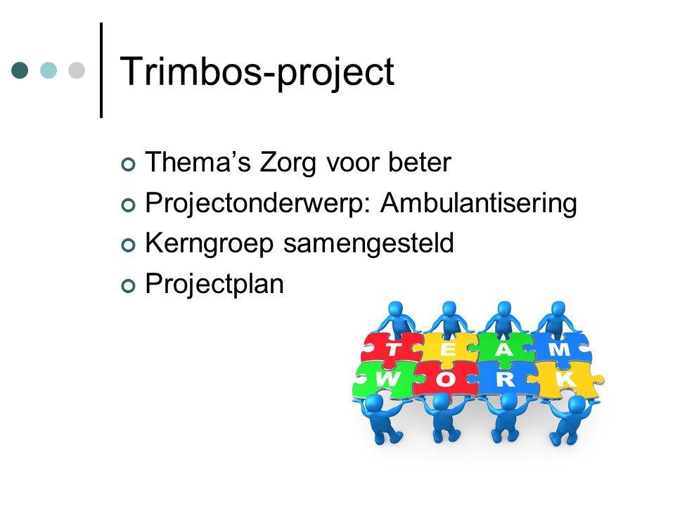 Trimbos-project Thema's Zorg voor beter