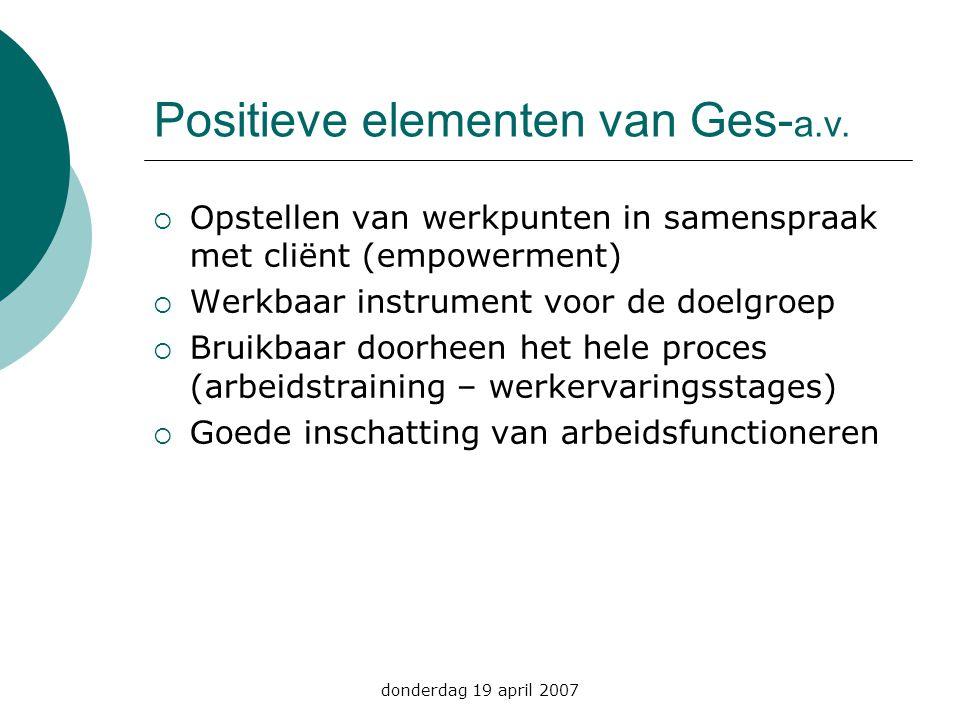 Positieve elementen van Ges-a.v.