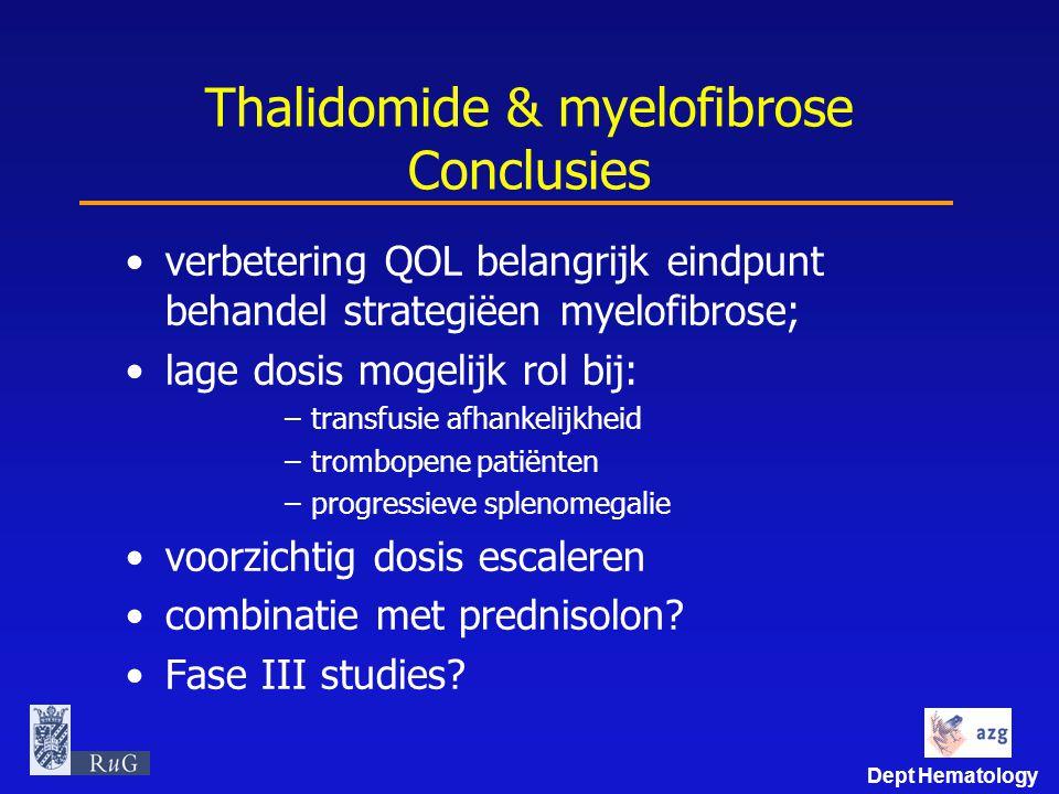 Thalidomide & myelofibrose Conclusies
