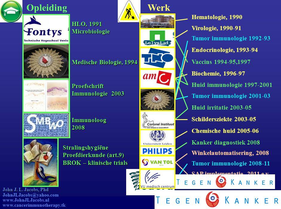 John Jacobs Opleiding Werk Hematologie, 1990 HLO, 1991 Microbiologie