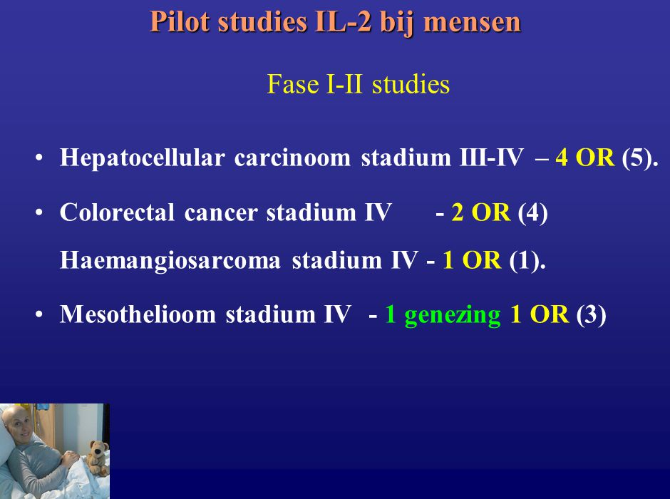 Pilot studies IL-2 bij mensen