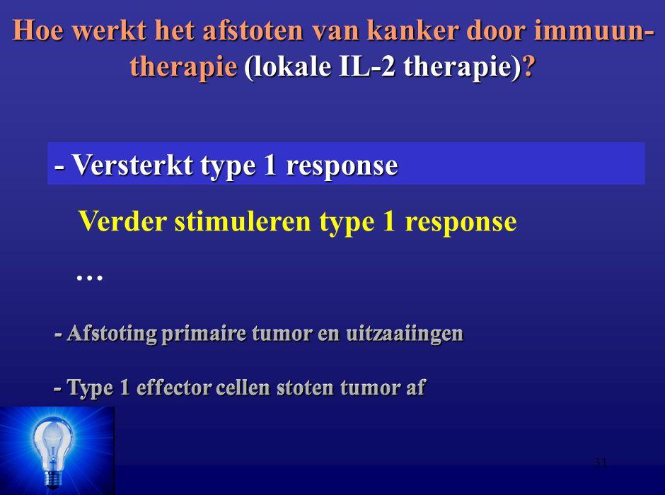 Verder stimuleren type 1 response